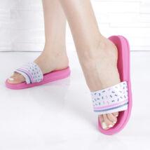 Masni mintás női rózsaszín gumipapucs