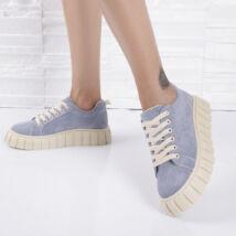 Platformos kék női extravagáns cipő