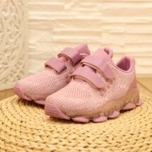 Tépőzáras villogó lányka pink sportcipő