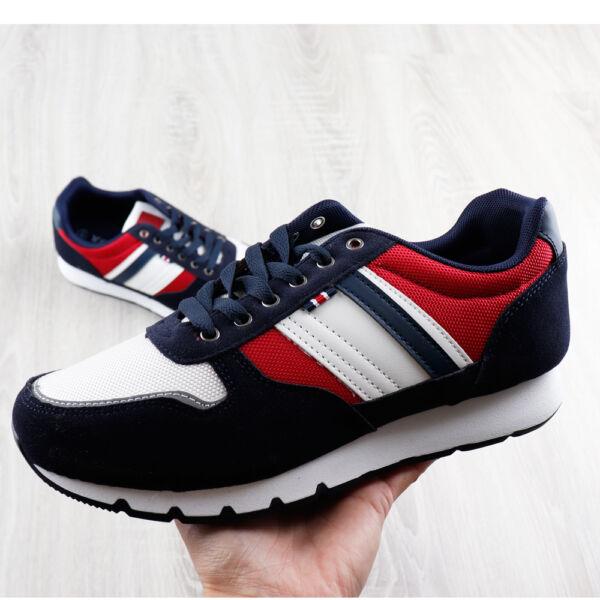 Sportos utcai cipő, fényvisszaverő csíkos