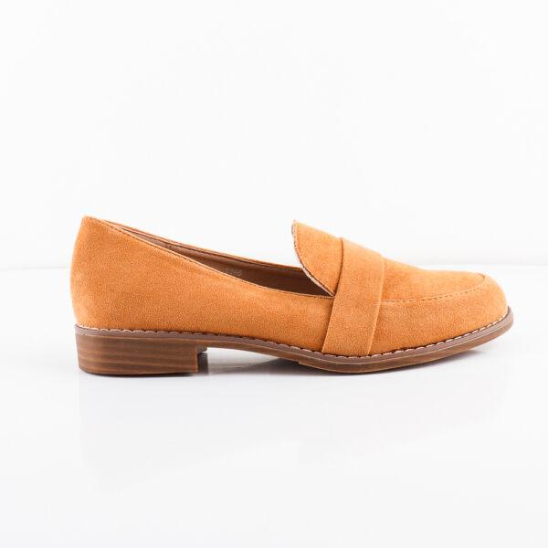 Női, utcai mokaszin cipő kis kocka sarokkal