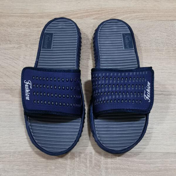 """Tépőzáras férfi """"Fashion"""" felíratú gumi papucs"""