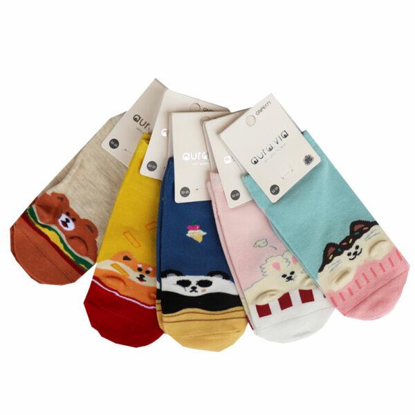 Állat mintás lányka zokni