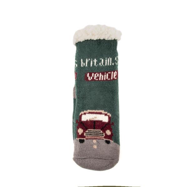 Fiú bundás téli zokni-autós