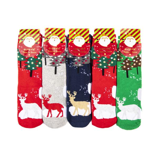 Gyermek téli zokni csomag (5db)-rénszarvasos