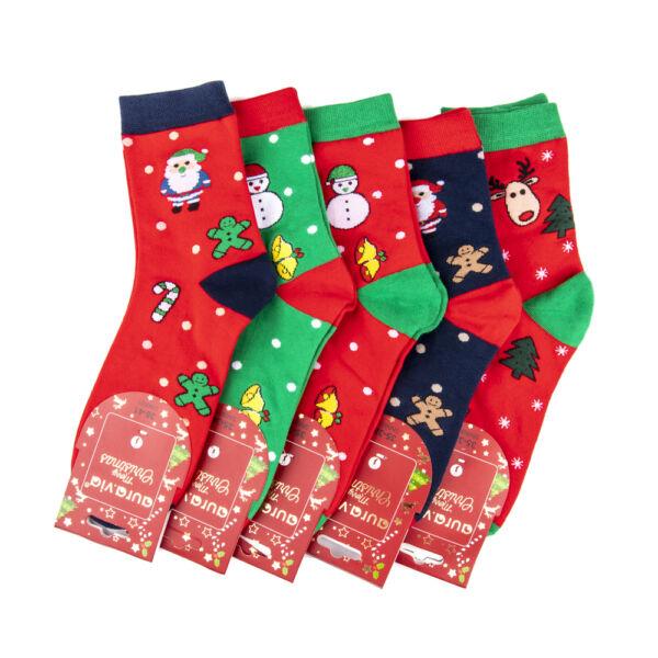 Női téli zokni csomag (5pár)-karácsonyi mintákkal