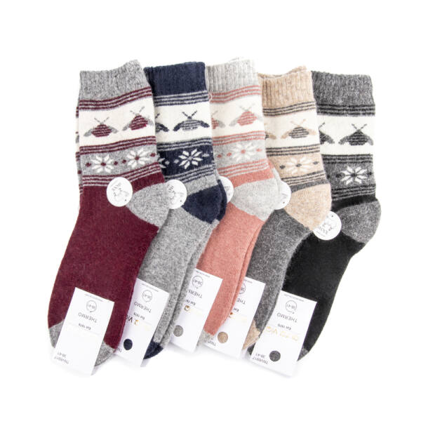 Női gyapjú zokni csomag (5pár)