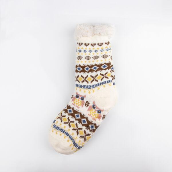 Téli bundás női zokni