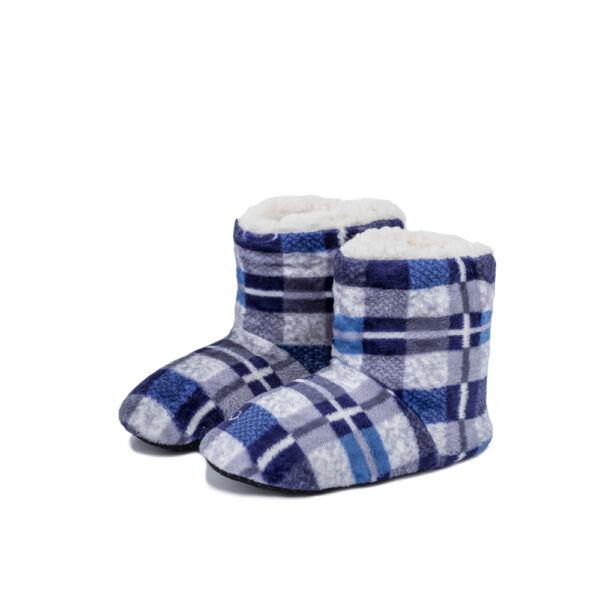 Gyermek, kék-mintás puha benti cipő