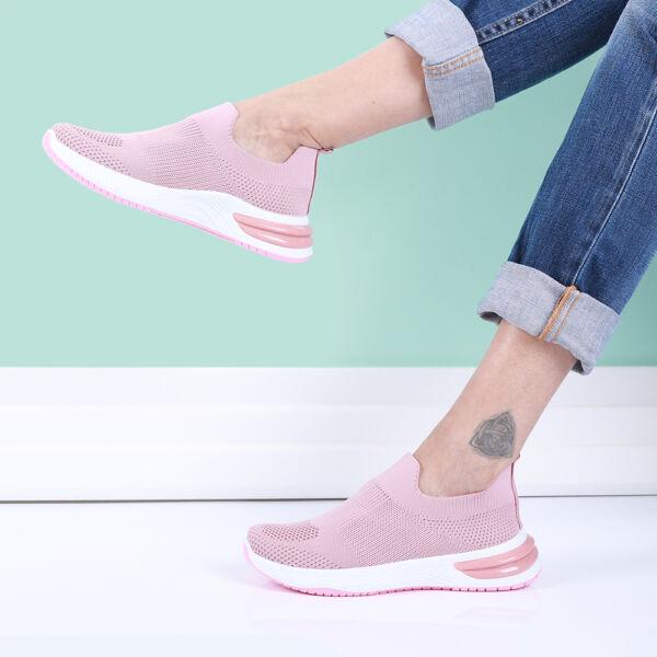 Női rózsaszín zoknicipő