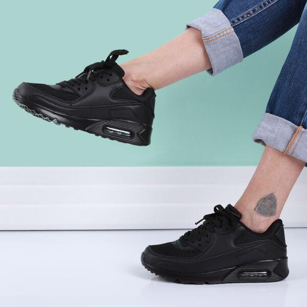 Női fekete divat sportcipő