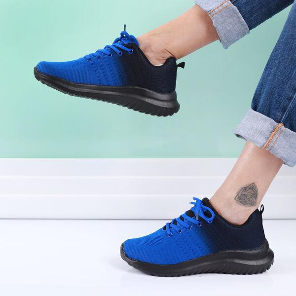 Női kék sportcipő