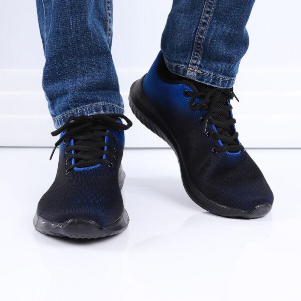 Férfi kék-fekete sportcipő