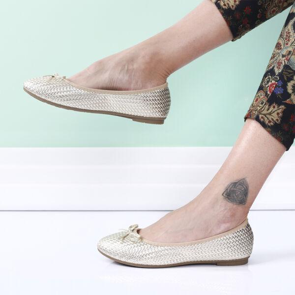 Női arany színű balerina cipő