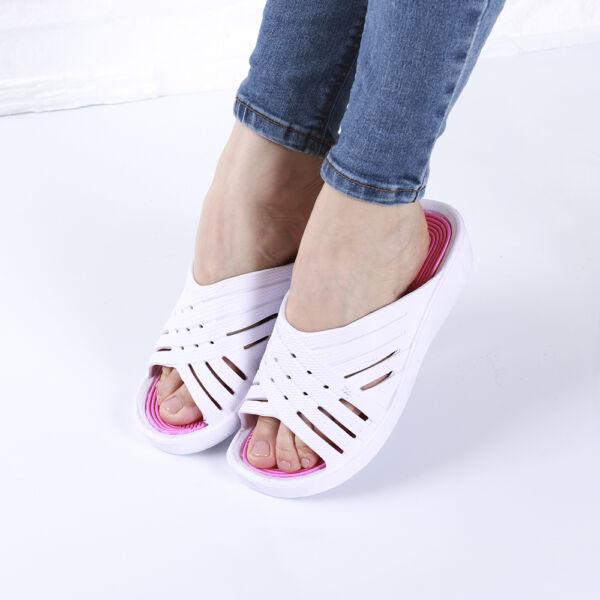 Női fehér gumipapucs