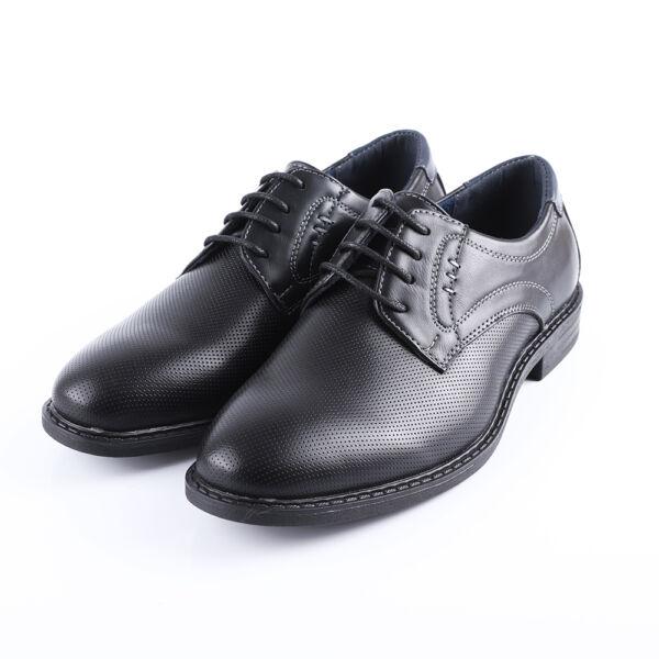 Fiú fekete fűzős alkalmi cipő