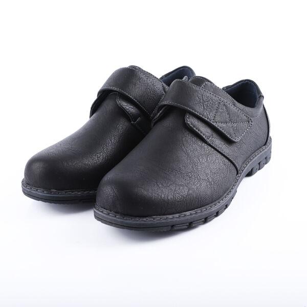 Férfi fekete tépőzáras alkalmi cipő
