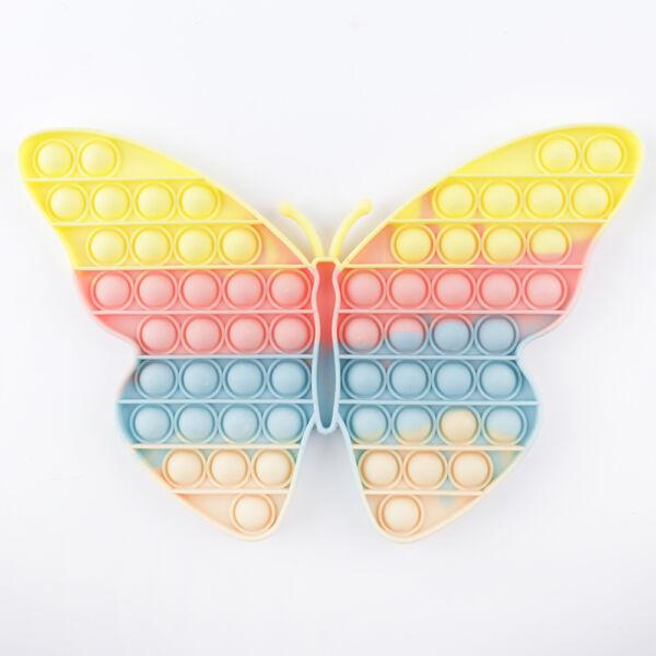 Pop it! játék pasztell szivárvány színben, pillangó