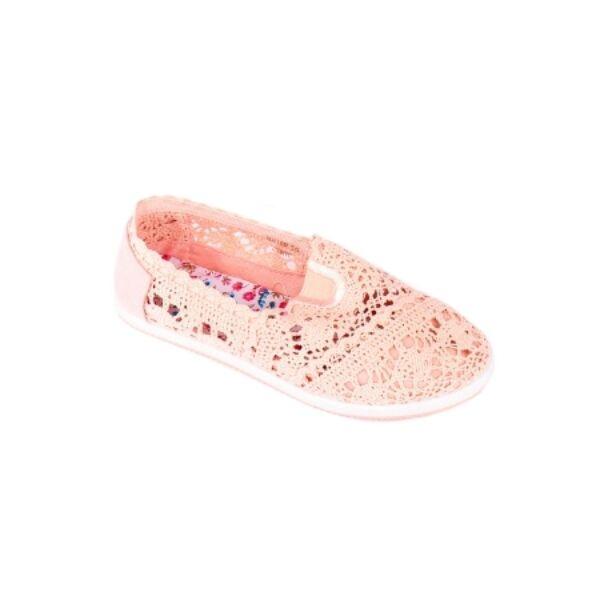 Pink Slip-on horgolt félcipő